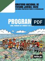 Programa Laboratorio Nacional de Activismo 2020 Actúa.pe