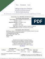 Prospera Technology LLC -- 2002 --New York Incorporation Papers
