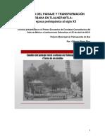 Cambio Del Paisaje en Tlalnepantla de la época prehispánica al siglo XX