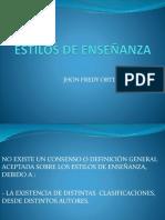 CLASE ESTILOS DE ENSEÑANZA
