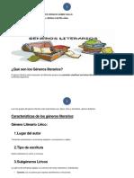 11. LOS GENEROS LITERARIOS.