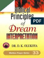 Biblical Principles of Dream In - D. K. Olukoya