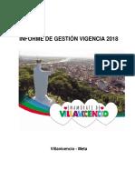 INFORME DE GESTION VIGENCIA 2018 - ALCALDIA DE VILLAVICENCIO