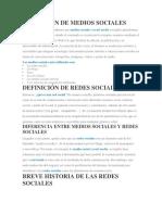 DEFINICIÓN DE MEDIOS SOCIALES