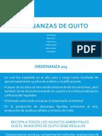 Diapositivas de las ordenanzas de Quito