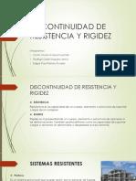DISCONTINUIDAD DE RESISTENCIA Y RIGIDEZ junto