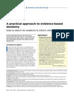 La práctica de la OBE. Como la investigación y la evidencia informa las desiciones clínicas