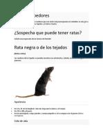 Tipos de roedores