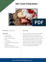 Bluberry Chia Pancakes