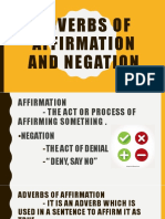 ADVERBS OF AFFIRMATION AND NEGATION