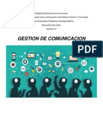 GESTION DE COMUNICACION