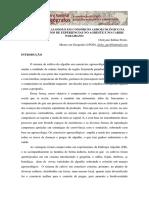 A PRODUÇÃO DO ALGODÃO EM CONSÓRCIO AGROECOLÓGICO NA PARAÍBA RELATOS DE EXPERIÊNCIAS NO AGRESTE E NO CARIRI PARAIBANO