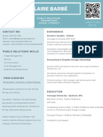 light pastel green simple academic resume-2