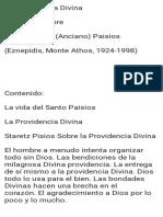 Providencia Divina Fe Ortodoxa