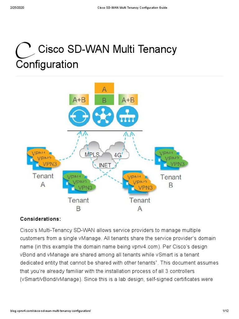 Cisco Sd Wan Multi Tenancy Configuration Cyberspace Network Architecture