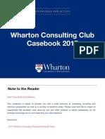 Wharton consulting club case book 2019