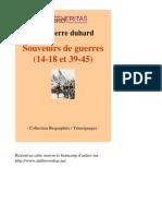 23851 JEAN PIERRE DUHARD Souvenirs de Guerres 14 18 Et 39 45 [InLibroVeritas.net][1]