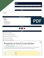 Tee (T) section properties _ calculator __ CALC RESOURCE