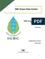 IGBC Green Data Center Rating System Pilot version Oct 2016