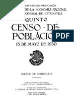 Censo de 1930 INEGI