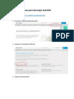 Manual para descargar AutoCAD