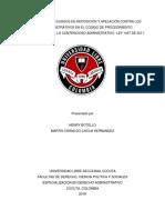 ANÁLISIS DE LOS RECURSOS DE REPOSICIÓN Y APELACIÓN CONTRA LOS ACTOS ADMINISTRATIVOS EN EL CÓDIGO DE PROCEDIMIENTO ADMINISTRATIVO Y DE LO CONTENCIOSO ADMINISTRATIVO -LEY 1437 DE 2011-