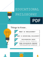 Teaching Profession - Educational Philosophy