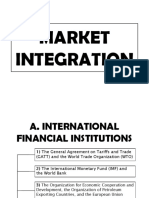 MARKET INTEGRATION contemporary