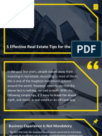 5 Effective Real Estate Tips for the Beginners