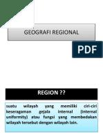 GEOGRAFI REGIONAL