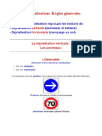 Signalisation Règles Générales