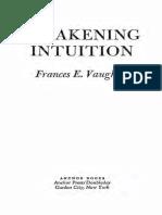 Frances E. Vaughan - Awakening Intuition (1979, Anchor)