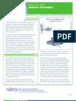 Balance Disorders Factsheet