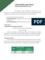APLICACIÓN DEL MODELO LINEAL SIMPLE1