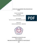 Tinjauan Umum Manajemen Strategik RS (Cover)