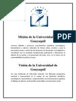 Misión y vision de la Universidad de Guayaquil