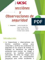 Obsevaciones e Inspecciones de Seguridad