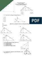 Exercícios- Relações métricas no triângulo retângulo