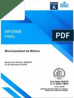INFORME FINAL 924-19 MUNICIPALIDAD DE MOLINA AUDITORÍA A LOS INGRESOS POR CONCEPTO DE OTORGAMIENTO DE PATENTES DE ALCOHOLES - DICIEMBRE 2019_.pdf
