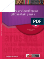 Aymara Arutha Chiqapa Qillqañataki Panka Manual de Escritura Aimara 1