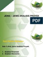 3. Jenis Analisis Proyek