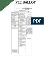 Cullman County Democratic Primary Sample Ballot 2020