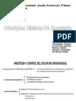 Pricipios basicos  de Anestesia en Cirugia Bucal