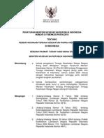 PMK No. 317 Ttg an Tenaga Kesehatan Warga Negara Asing Di Indonesia