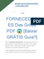 → FORNECEDORES Das Grifes PDF ? [Baixar GRÁTIS Guia?]