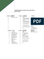 PARTIDA  7 TABLA DE  CONVERSIONES