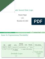 Monadic Second Order Logic