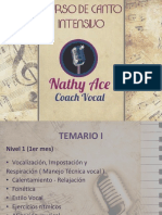 CURSO DE CANTO Nathy