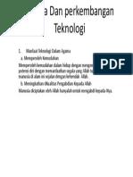 Agama Dan perkembangan Teknologi