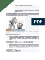 MÉTODOS Y TÉCNICAS DE DIAGNOSTICO